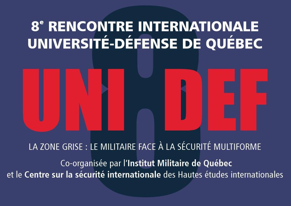 8e rencontre internationale Université-Défense deQuébec