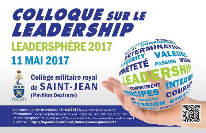Colloque sur le leadership : Leadersphère 2017